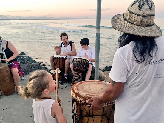 byron bay sunset bongos yellowmelow